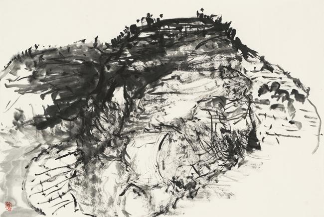 陕北风景写生系列之一 46cmx69cm 纸本水墨 2017